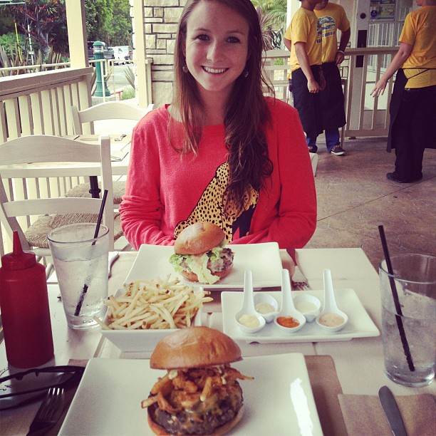 Emily Cronin at Umami Burger, Laguna Beach