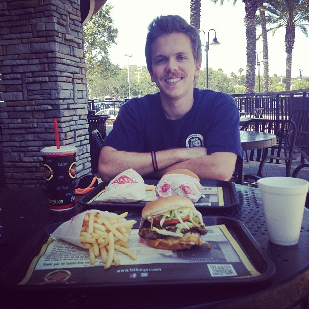 Andrew Brown at Fatburger, Aliso Viejo