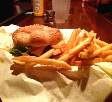 1/2 lb. Cheeseburger at Rocky's Crown Pub