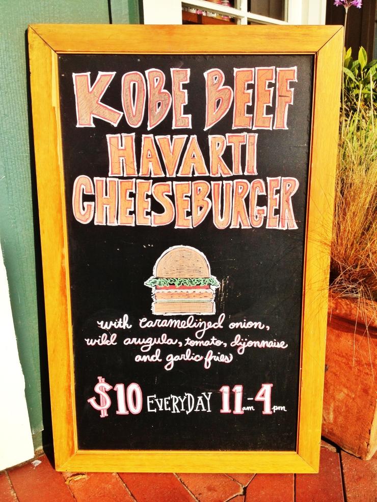 kobe beef havarti cheese burger sapphire laguna sapphire pantry laguna beach
